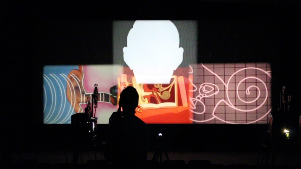 Film Still from Films for One to Eight Projectors