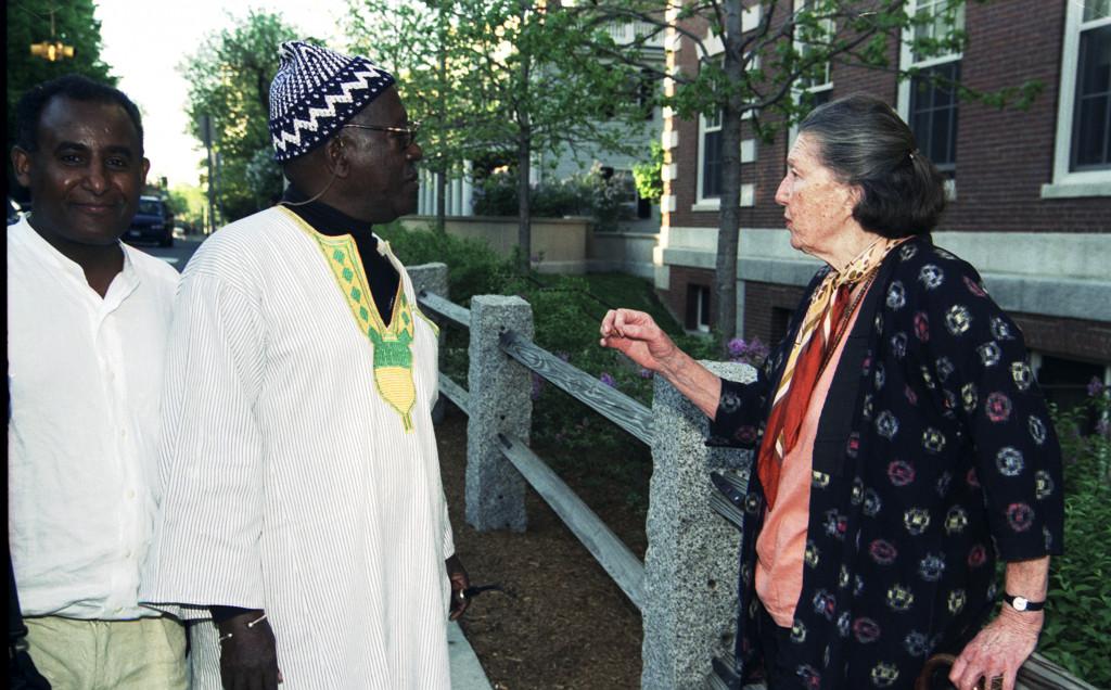 Geneviève McMillan with McMillan-Stewart fellow Ousmane Sembène