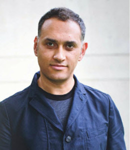 Portrait of Kamal Aljafari by Kathleen Dooher