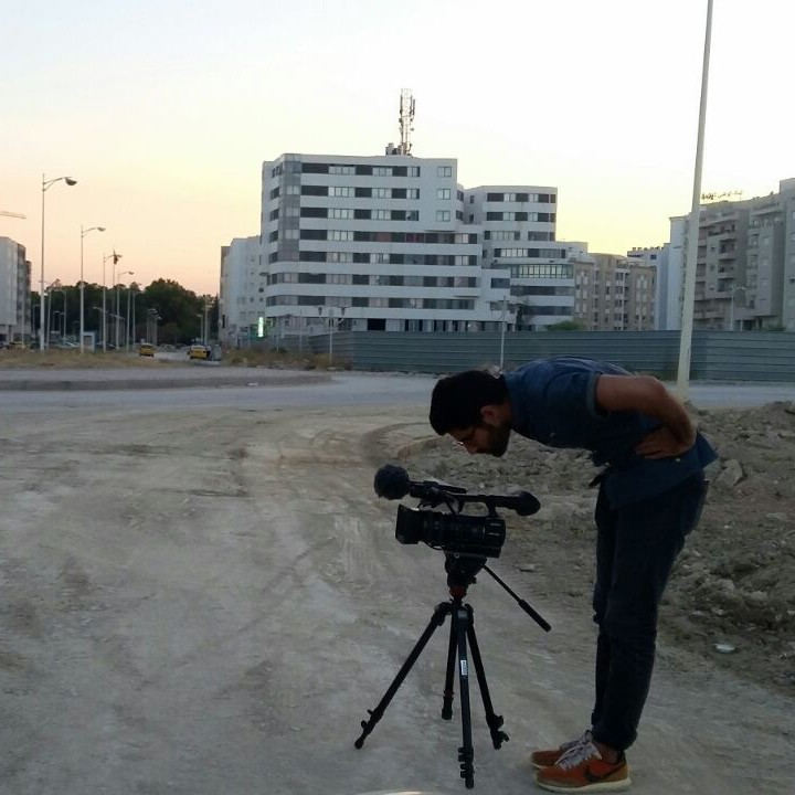 "Salmaan Mirza filming his FSC project ""Mahkeme."""